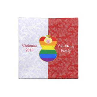 Vit för blont hår för gay prideängelflagga röd tygservett
