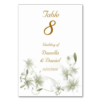 Vit för bröllopbordsnummerbröllop blommar blommigt
