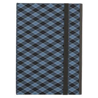 Vit för den Argyle blåttsvarten görar randig iPad Air Fodral
