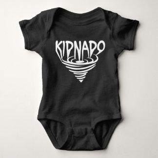 Vit för den Kidnado babybodysuiten kanaliserar Tröja