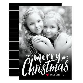 Vit för kort för foto för julkärlekhelgdag 12,7 x 17,8 cm inbjudningskort