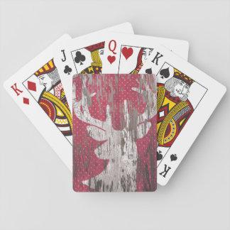 vit för lantlig helgdag för hjort som röd leker spel kort