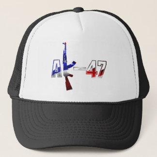 Vit för logotyp för AK-47 AKM anfallgevär röd och Keps