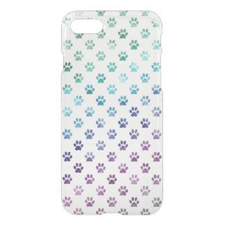 Vit för regnbåge för blått för hundtassgrönt iPhone 7 skal