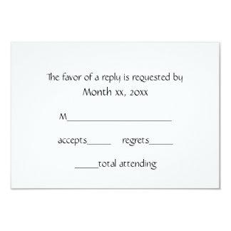 Vit för svarskortvinter för bröllop 8,9 x 12,7 cm inbjudningskort
