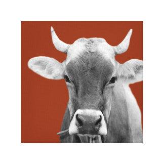 Vit för svart för foto för boskap för kolantgård canvastryck