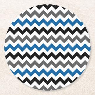 Vit för svart för grått för blått för underlägg papper rund