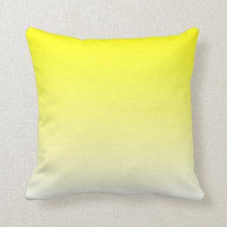 Vit gula Ombre Kudde