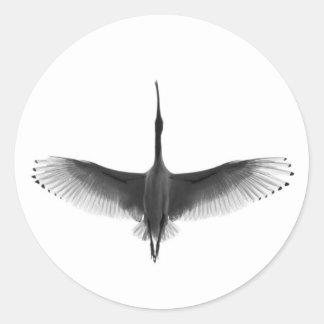 Vit Ibis Runt Klistermärke