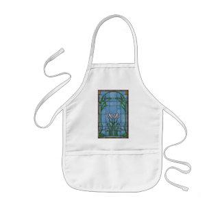 Vit Irises ungeförklädet Barnförkläde