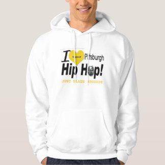 Vit JBR stöttar jag PGH-hip hop Hoody Munkjacka