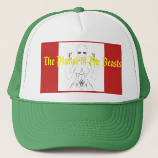 Vit kvinnliga E.T. Skissa på hatten från TPOTB Truckerkeps