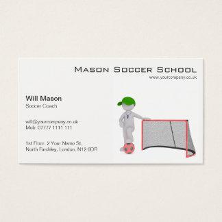 Vit man fotbolllagledarevisitkort visitkort