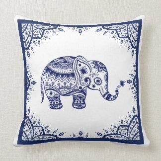 Vit & mörk - slösa blom- Paisley & elefanten Prydnadskuddar