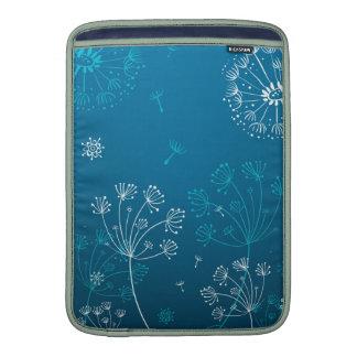 Vit- och blåttdundelions sleeve för MacBook air