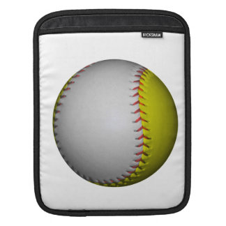 Vit- och gultsoftball/baseball sleeve för iPads