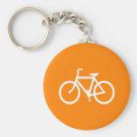 Vit och orange cykel nyckel ringar