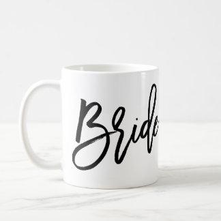 Vit och svart för brudmuggslätt kaffemugg