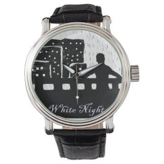 Vit på nätterna armbandsur