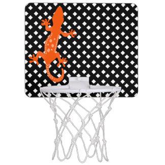 Vit på svart diamantbasketring med ödlan Mini-Basketkorg