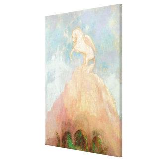 Vit Pegasus, c.1908 (olja på kanfas) Canvastryck