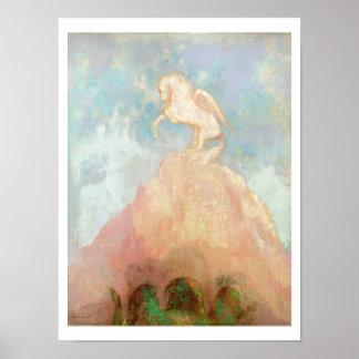 Vit Pegasus, c.1908 (olja på kanfas) Poster