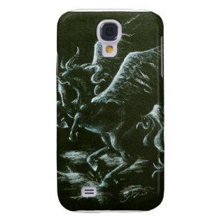 Vit Pegasus på svart Galaxy S4 Fodral