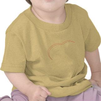 Vit-Röd hjärta buktar de MUSEUMZazzle gåvorna T-shirts