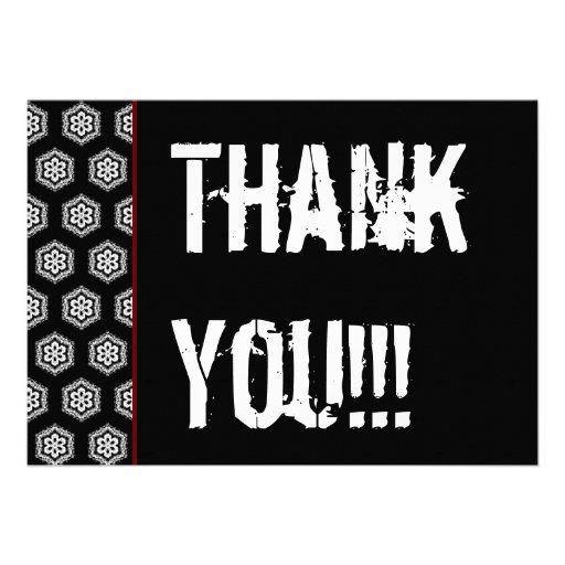 Vit röd V301 för svart för tacköverrrakningparty Inbjudningskort
