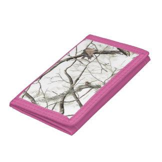 Vit/rosa trädCamo plånbok