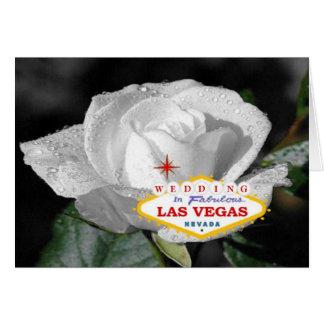 Vit rosbröllop i det sagolika Las Vegas kortet Hälsningskort