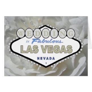Vit rosBRÖLLOP i sagolika Las Vegas Announcem Hälsningskort