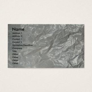 Vit skrynkligt plast- visitkort