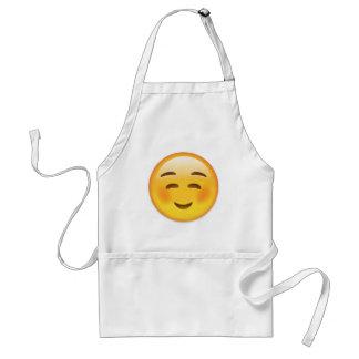Vit som ler ansikte Emoji Förkläde