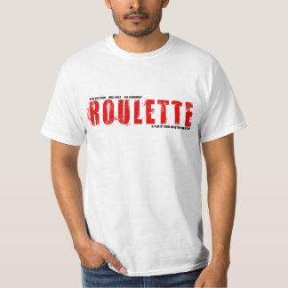 Vit T för roulettlogotyp V1 T Shirts