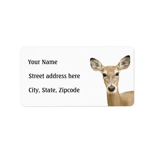 Vit Tailed hjort Adressetikett
