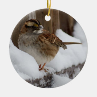 Vit-throated Sparrow Julgransprydnad Keramik