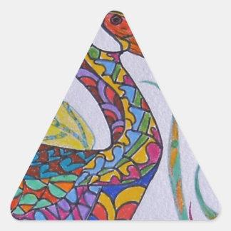 Vit-vände mot Ibis Triangelformat Klistermärke