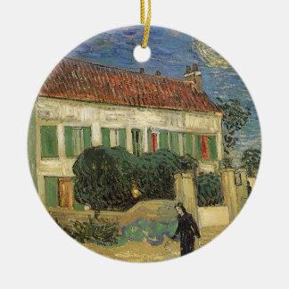 Vita hus på natten av Vincent Van Gogh Julgransprydnad Keramik