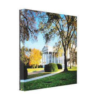 Vita huskanfas - Washington, D.C. Canvastryck