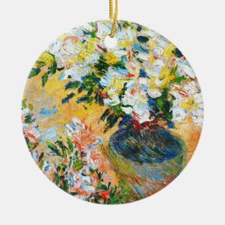 VitAzaleas i en kruka, Claude Monet 1885 Julgransprydnad Keramik