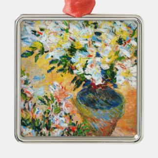 VitAzaleas i en kruka, Claude Monet 1885 Julgransprydnad Metall