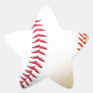 Vitbaseball med rött sy stjärnformat klistermärke