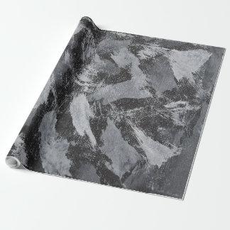 Vitbläck på svart bakgrund #3 presentpapper