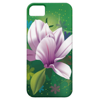 Vitblomma iPhone 5 Skal