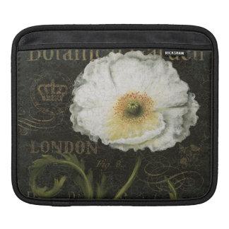 Vitblommar och löv sleeve för iPads