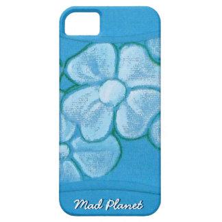 Vitblommor räcker målat på rivit sönder tyg iPhone 5 hud