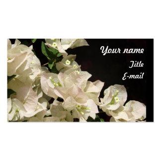 Vitbougainvilleaen blommar visitkorten set av standard visitkort
