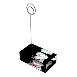 Vitboxarehund Bordskorthållare