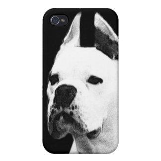 Vitboxarehund iPhone 4 Skal